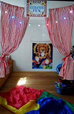 party verleihkiste zirkus kinderparty. Black Bedroom Furniture Sets. Home Design Ideas