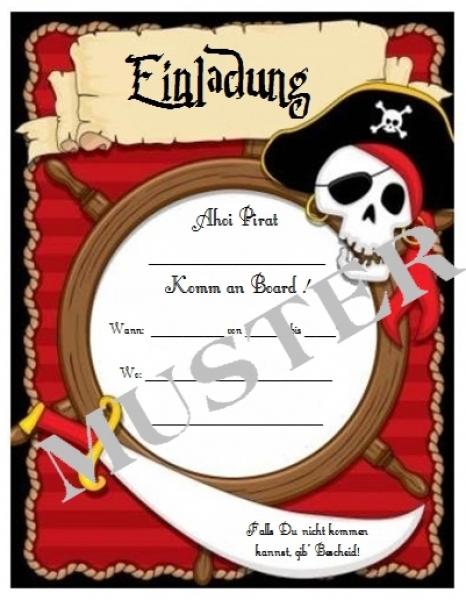 "Einladung Piratenparty ""Ahoi!"" - Kinderparty-Onlineshop.de"