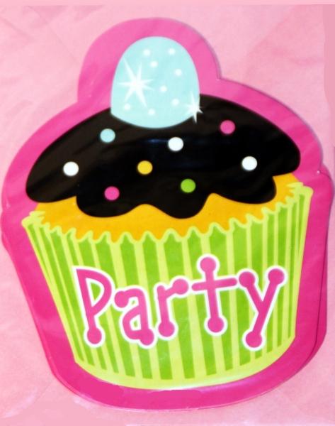 """Einladungen """"Süße Muffins"""" 8 St. - Kinderparty-Onlineshop.de"""