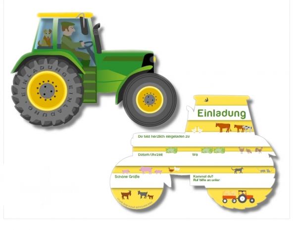 Startseite » Spiele & Accessoires » Einladung Traktor / Bauernhof