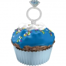 Muffin-Deko (Picker) Diamant-Ring
