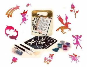 Glitzer Tattoo Set Fantasy