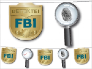 FBI  Girlande - Detektivparty 3,5m
