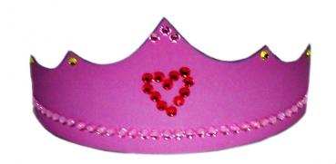 diadem pink zum selbstbasteln kinderparty. Black Bedroom Furniture Sets. Home Design Ideas