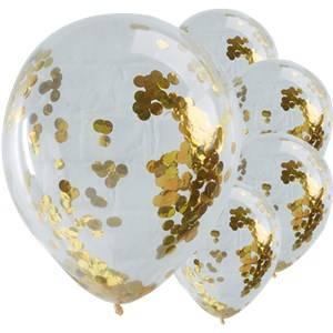 konfetti ballons gold kinderparty. Black Bedroom Furniture Sets. Home Design Ideas