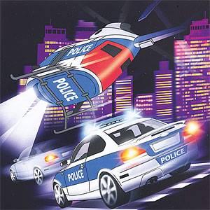 33cm x 33cm Polizei Party Deko Police Servietten 20 Stück