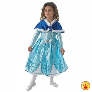 Sofia the first Winterkleid mit Cape (5-6 Jahre)