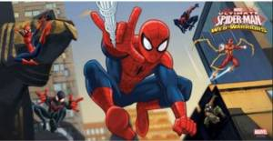 Spiderman Web Warriors Wandbanner