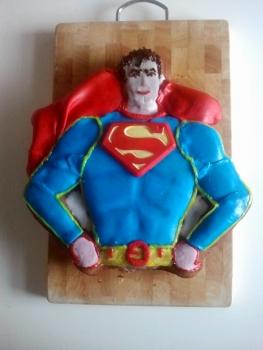 kuchen backform superman batman verleih kinderparty. Black Bedroom Furniture Sets. Home Design Ideas