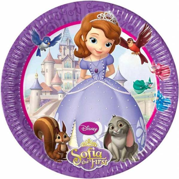 "Sofia the first Partyset  ""Happy Birthday"""