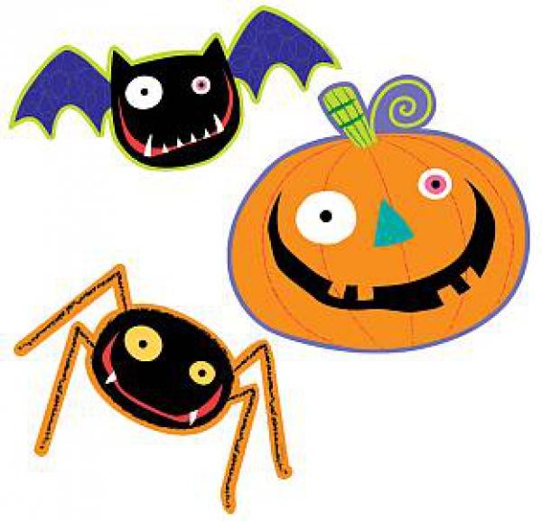 Halloween Kindergeburtstag.Wanddeko Halloween Lustig 3 Stuck