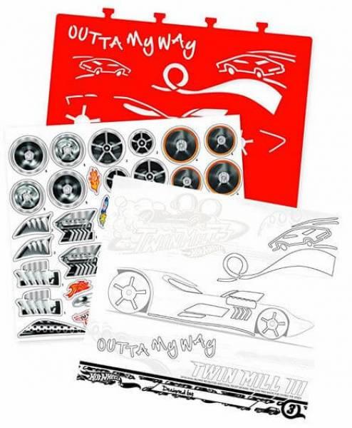 Hot Wheels Skizzen Und Aufkleber Buch Kindergeburstag
