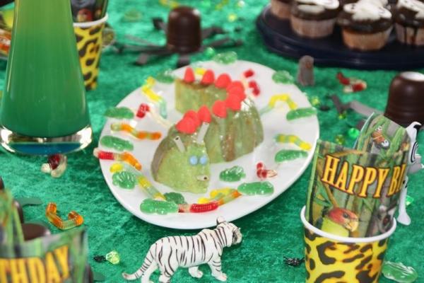 JeVenis 24 PCS Niedliche Safari Tiergeburtstag Herzst/ück Dschungeltiere Geburtstag Herzst/ück Jungle Party Safari Herzst/ück Safari Babyparty Dekoration