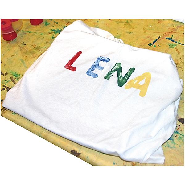 T-Shirt weiß zum Bemalen - kindergeburstag, kindergeburtstag