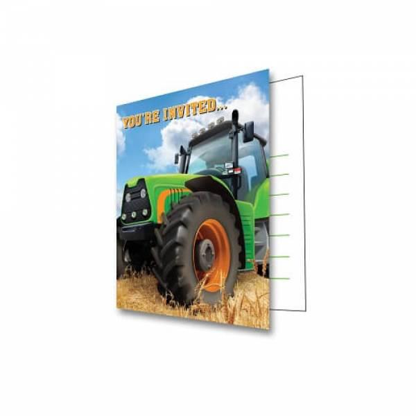 traktor einladungen / traktor einladungskarten