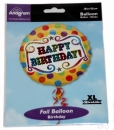 Folien-Luftballon Happy Birthday (45 cm)