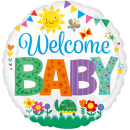 Folienballon Welcome Baby (45cm)