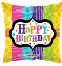 Folienballon Happy Birthday bunt (45,7cm)