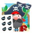 Piratenspiel (Pin the eye patch))